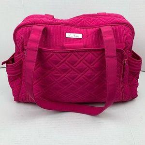 Vera Bradley Fushia Pink Quilted Large Travel Bag